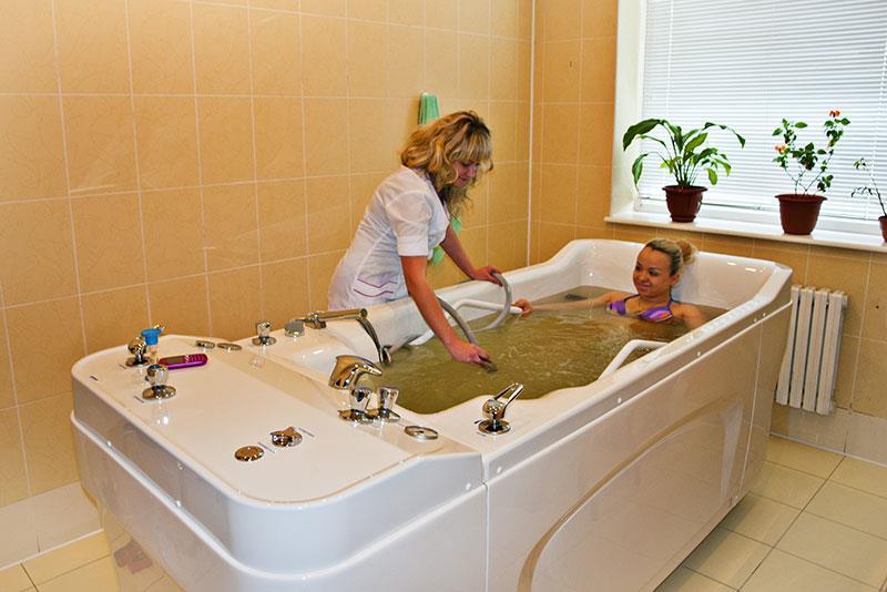 мінеральні ванни в санаторії Шахтар