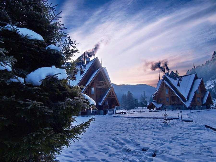 зимовий краєвид готель Царинка