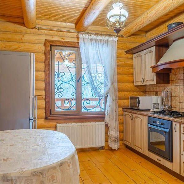 мини кухня в коттедже вилла Альпийка
