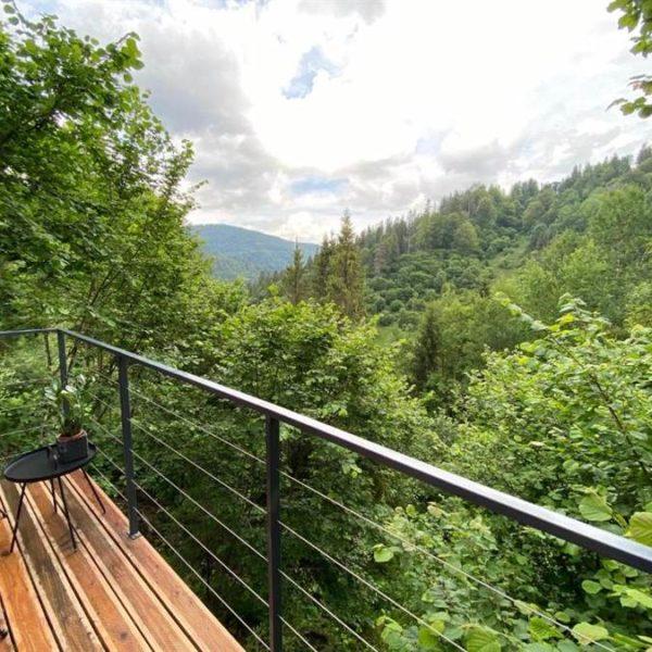 краєвид на розкішний ліс Славське котедж вілла Альпійка