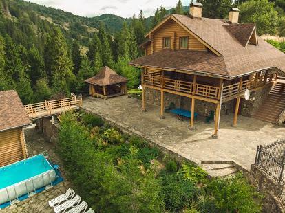красивый вид природа Славское вилла Альпийка