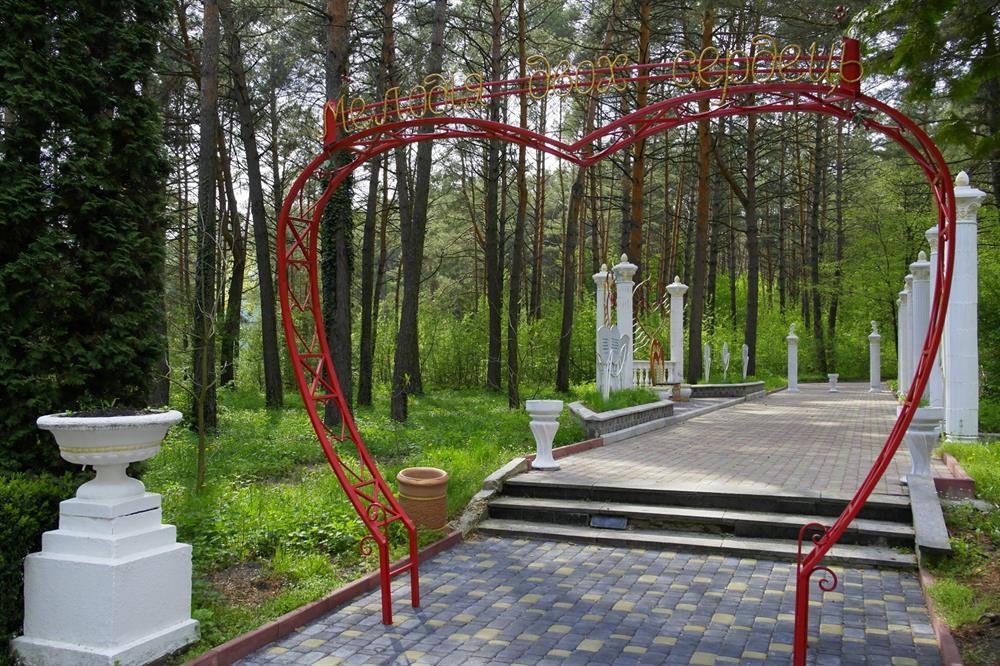 Арка кохання на території санаторія Червона Калина
