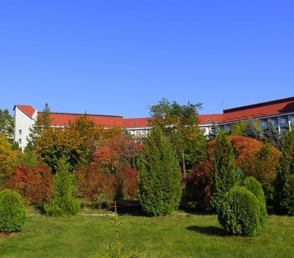 Ухоження территория санатория Червона Калина