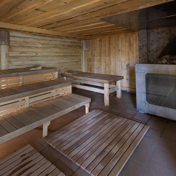 Компактная сауна в санатории Лаяр Палас
