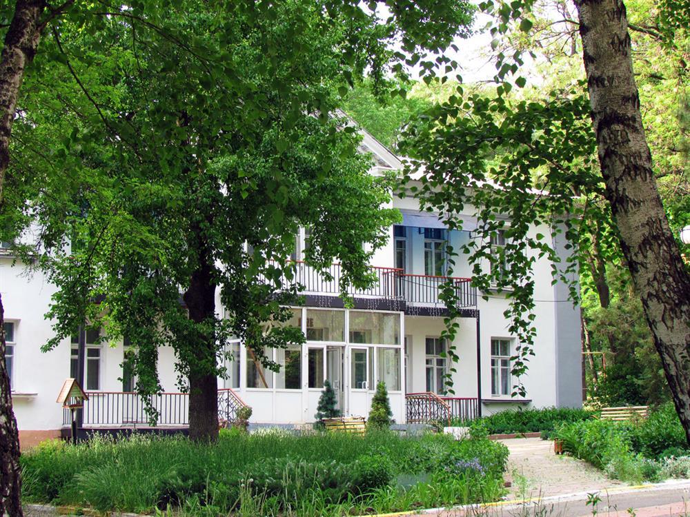 Зеленая территория санатория Роща