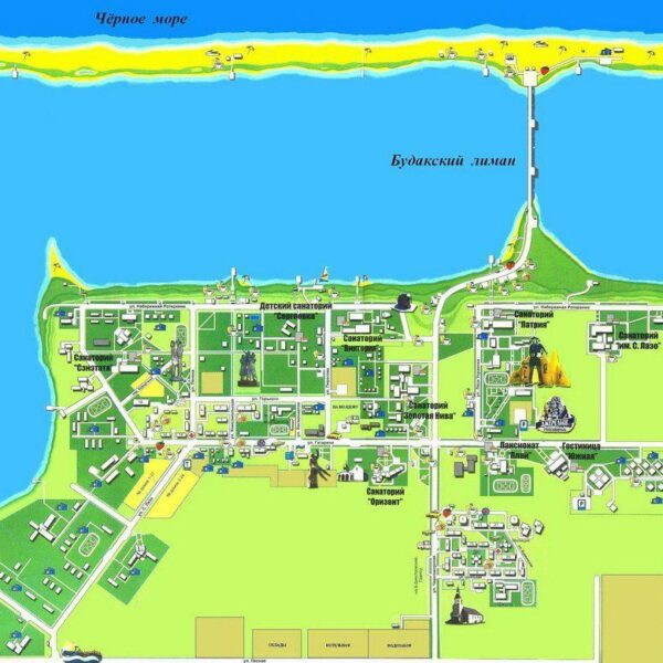 План - схема території санаторія Оризонт