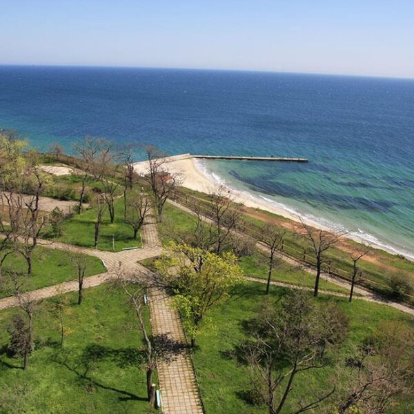 Вид на море Санаторий Одесский фото