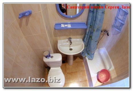 Туалет в номері Санаторія Сергія Лазо