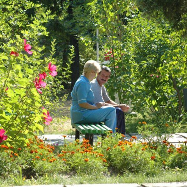 Парк в санаторії Гопри